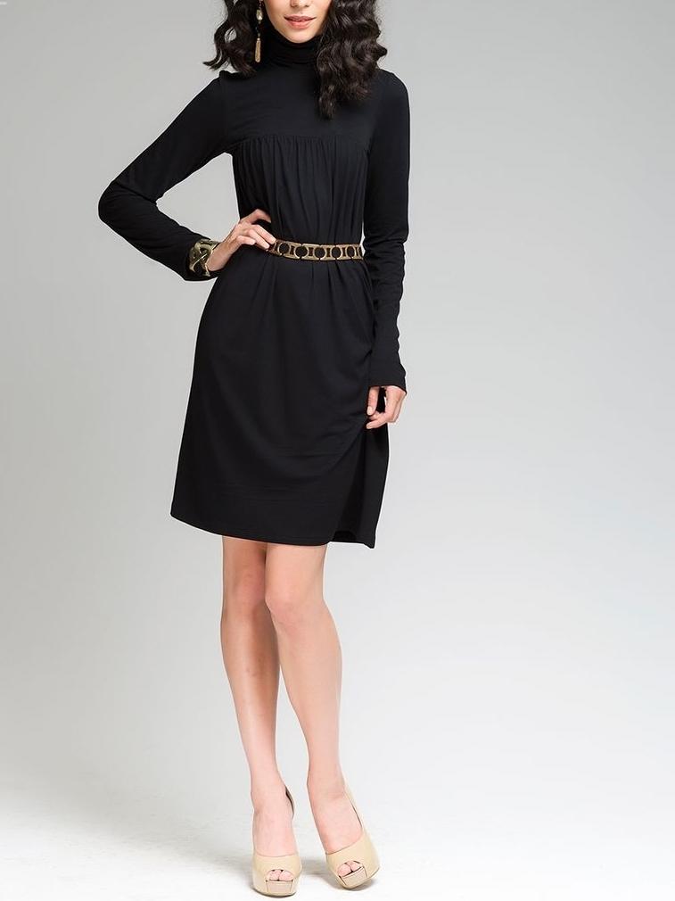 этого черное платье с рукавичками фото очень популярен требует