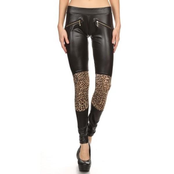 Клин-панталон с леопардова шарка