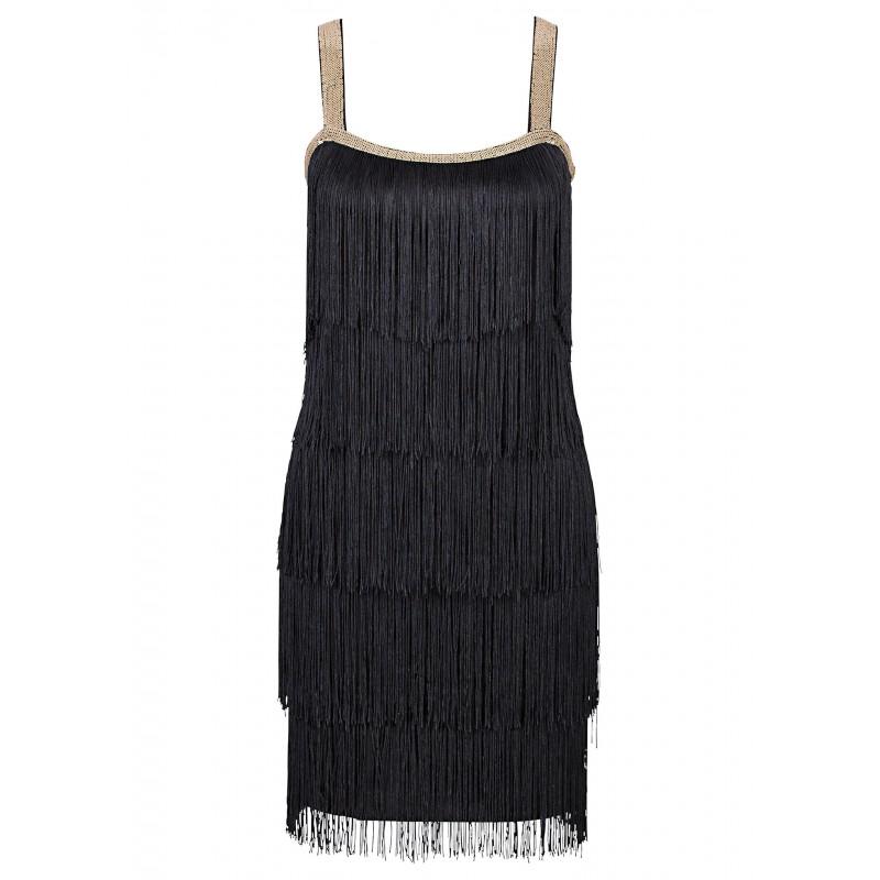 6c6a0b08319c Παιχνιδιάρικο φόρεμα με κρόσσια - alert.bg